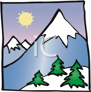 Mountain clip art panda. Free snowy mountains clipart images