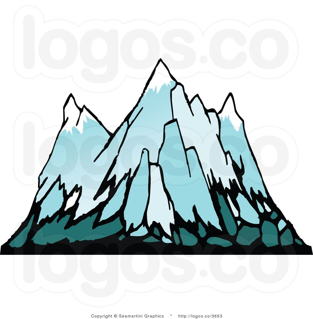 Free snowy mountains clipart images vector transparent stock Snowy Mountain Logo - LogoDix vector transparent stock
