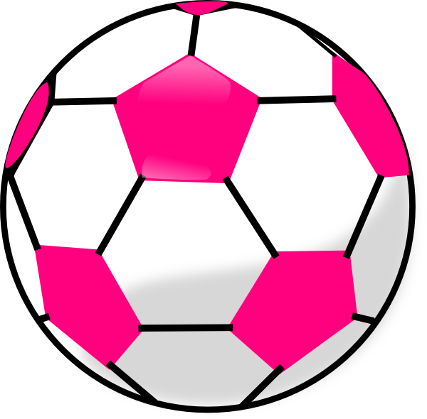Free soccer ball clip art svg royalty free library Pink soccer ball clipart - ClipartFest svg royalty free library