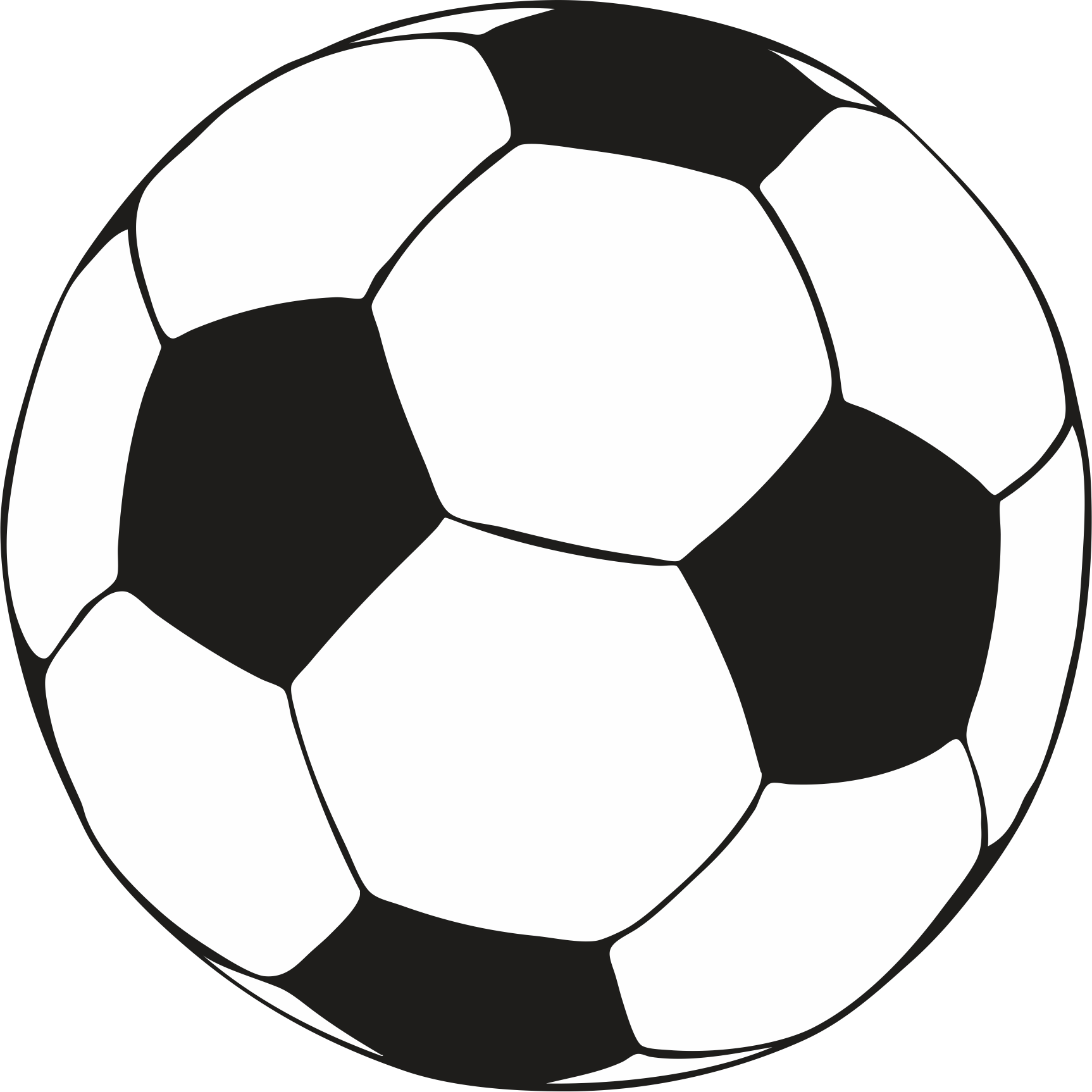Baby shower football rattle clipart png black and white library Soccer ball coloring pages download and print for free | Special ... png black and white library