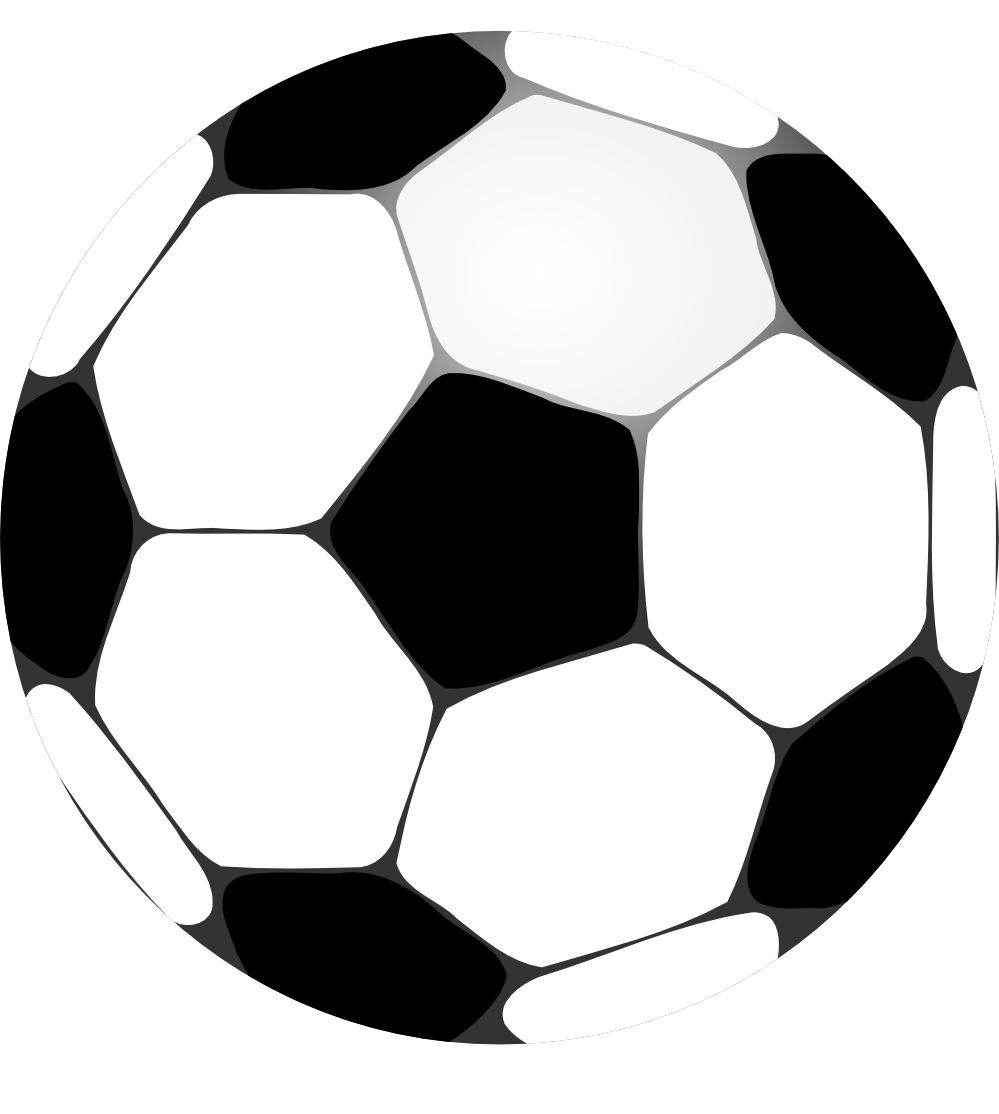 Cartoon soccer ball picture. Football clipart transparent background