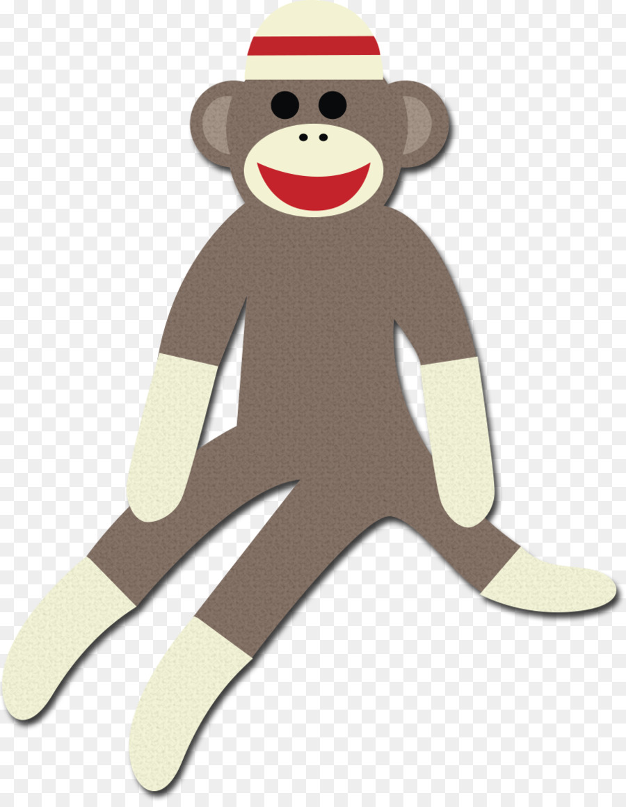 Free sock monkey clipart svg freeuse download Monkey Cartoon png download - 911*1168 - Free Transparent Sock ... svg freeuse download