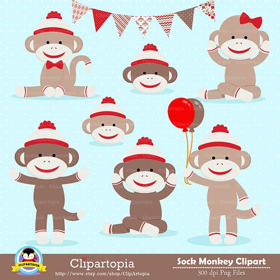 Free sock monkey clipart svg black and white download Free Printable Sock Monkey Clip Art 10 | sock monkey | Clip art ... svg black and white download
