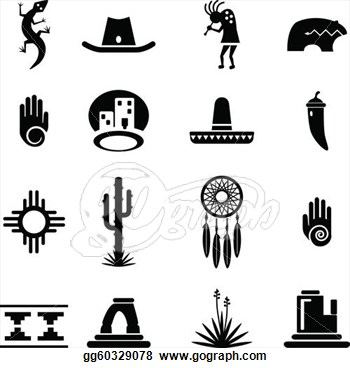 Southwest clipart png black and white Southwestern Clip Art Free | Clipart Panda - Free Clipart Images png black and white