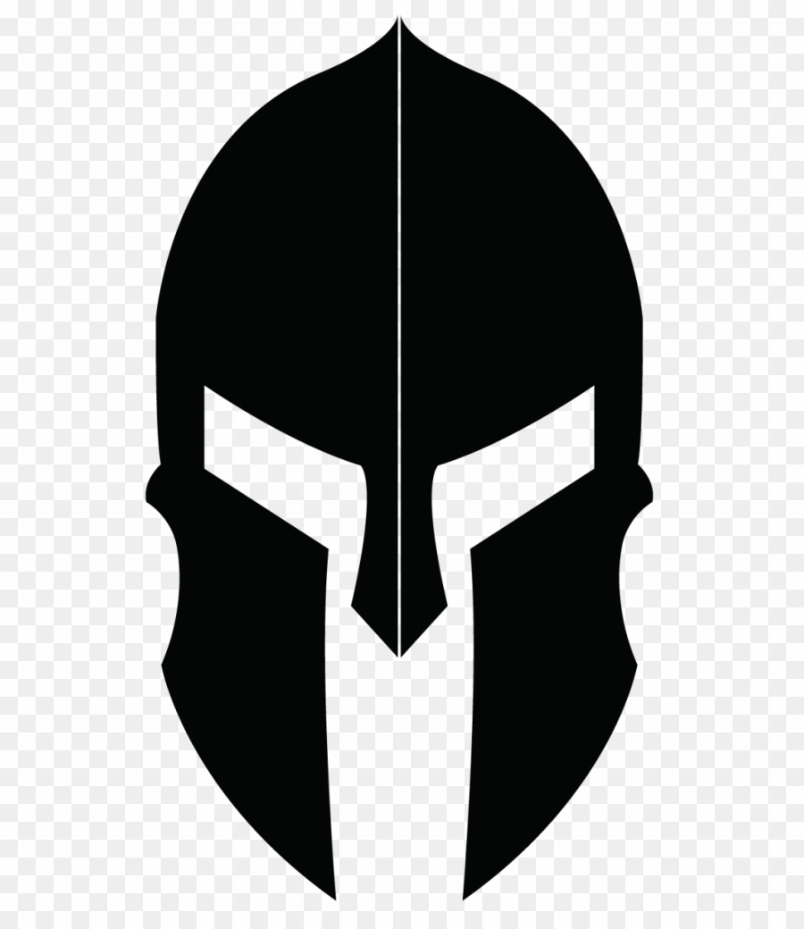 Spartan helmet clipart transparent