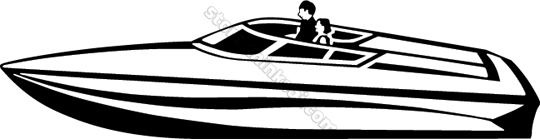 Free speed boat clipart image black and white Speed Boat Clip Art & Speed Boat Clip Art Clip Art Images ... image black and white