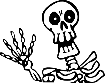 Skeleton clipart waving svg royalty free Free Scary Halloween Clipart, Download Free Clip Art, Free Clip Art ... svg royalty free