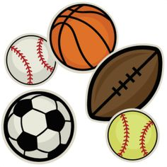 Free sports graphics clipart png black and white library Free printable sports clipart - ClipartFest png black and white library