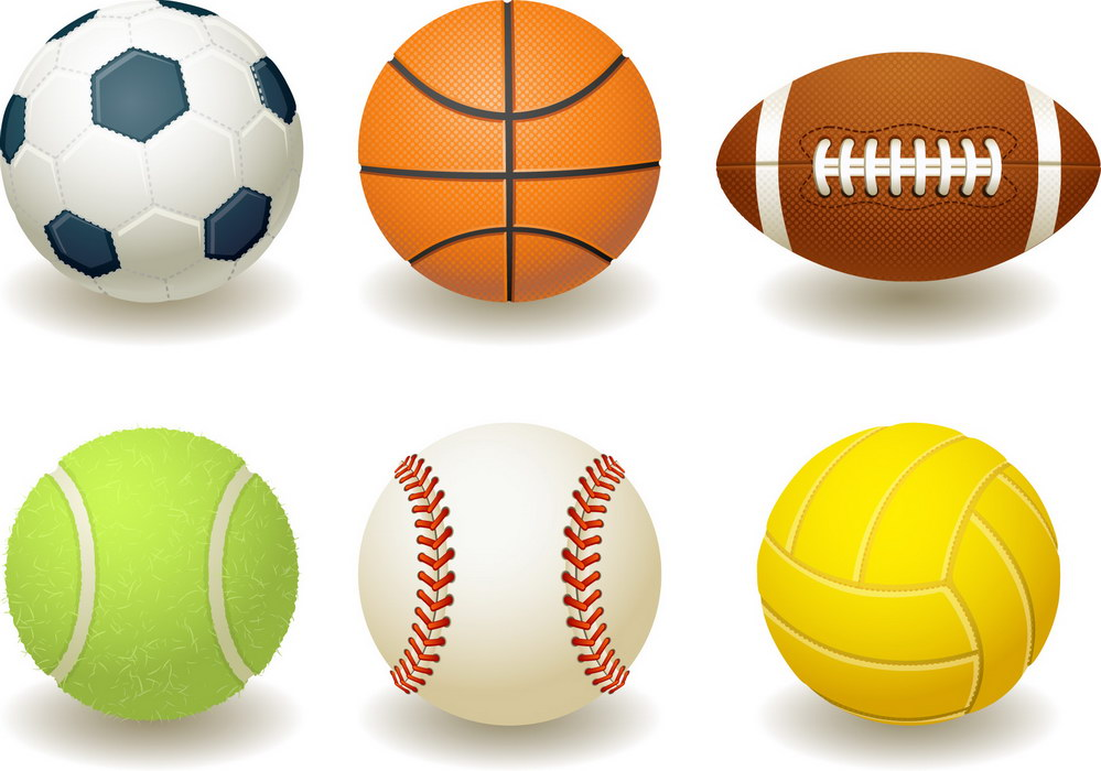Free sports graphics clipart graphic royalty free library Sports balls free clipart - ClipartFest graphic royalty free library