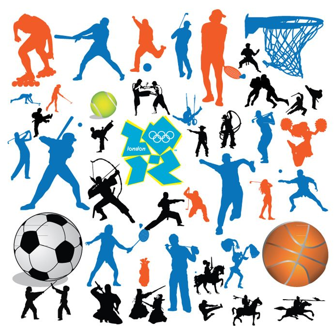 Free sports graphics clipart banner royalty free Free Sports Vector - Cliparts.co | sports | Pinterest | Olympic ... banner royalty free