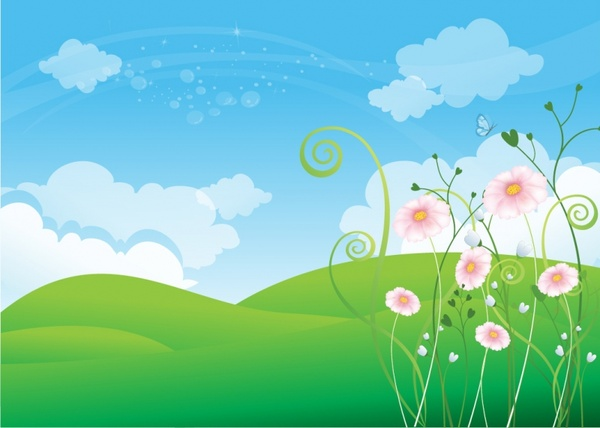 Spring Background Free vector in Adobe Illustrator ai ( .AI ... clipart royalty free stock
