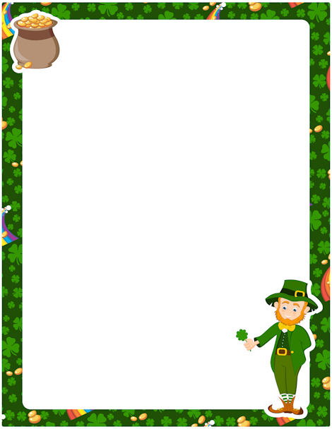 Free st patricks day border clipart jpg stock Pin by Muse Printables on Page Borders and Border Clip Art   Page ... jpg stock