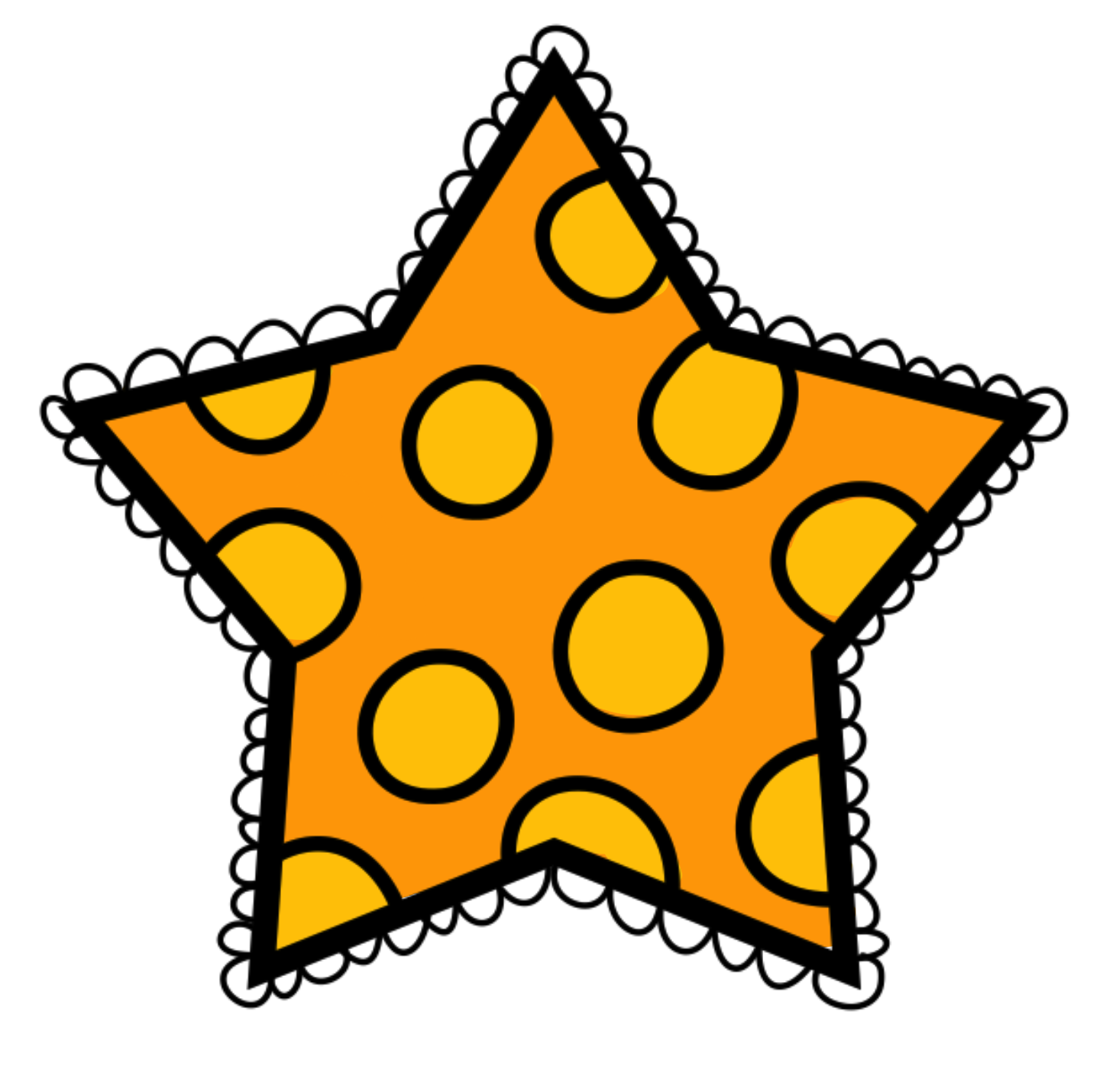 Polka dot star clipart image freeuse library Free Star Clipart For Teachers image freeuse library