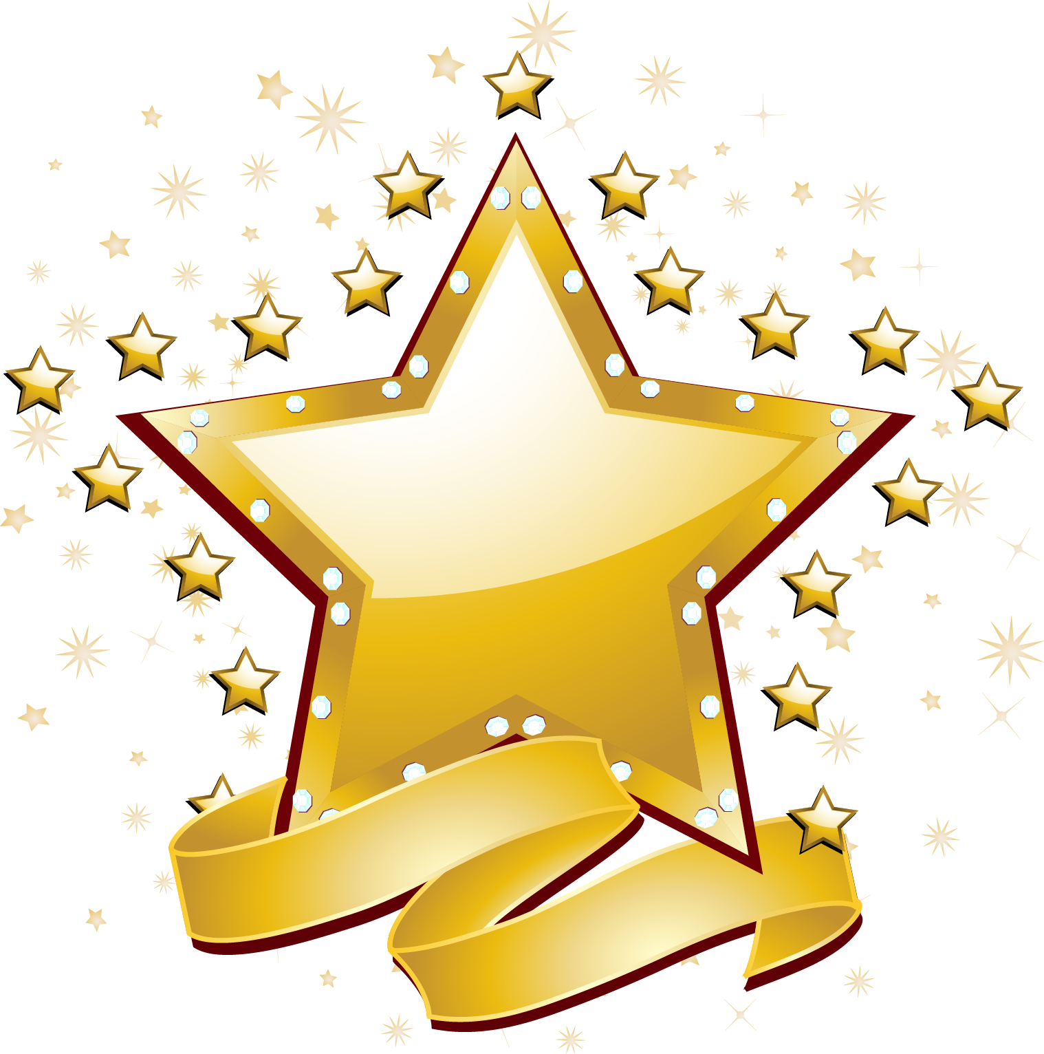 Free star vector clipart png transparent stock Icon - Gold stars vector material 1518*1532 transprent Png Free ... png transparent stock