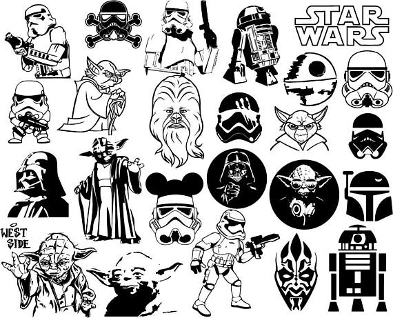 Star wars clipart collection png royalty free library Star wars Clipart Bundle, Disney Star Wars clip art, starwars ... png royalty free library