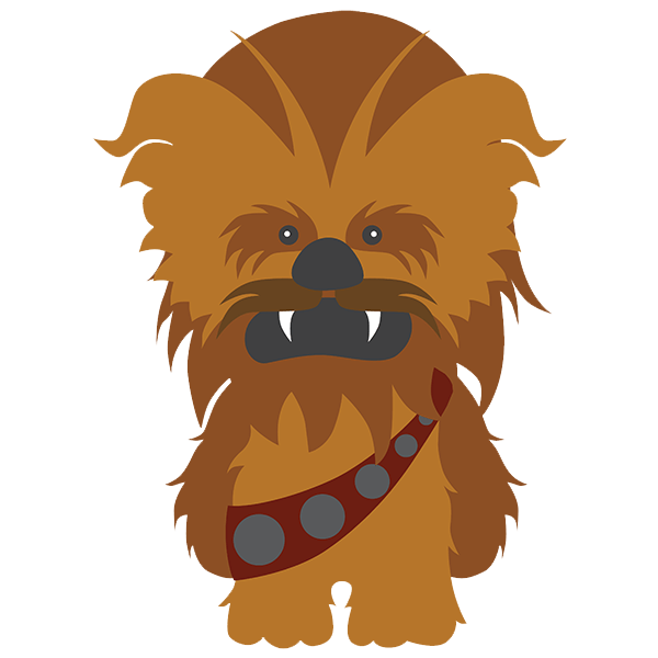 Free star wars chewie clipart clip art royalty free download Star Wars Wall Stickers For Kids Chewbacca clip art royalty free download