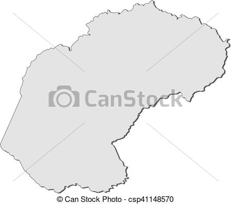 Free state map clipart clip library library Vectors Illustration of Map - Free State (South Africa) - Map of ... clip library library