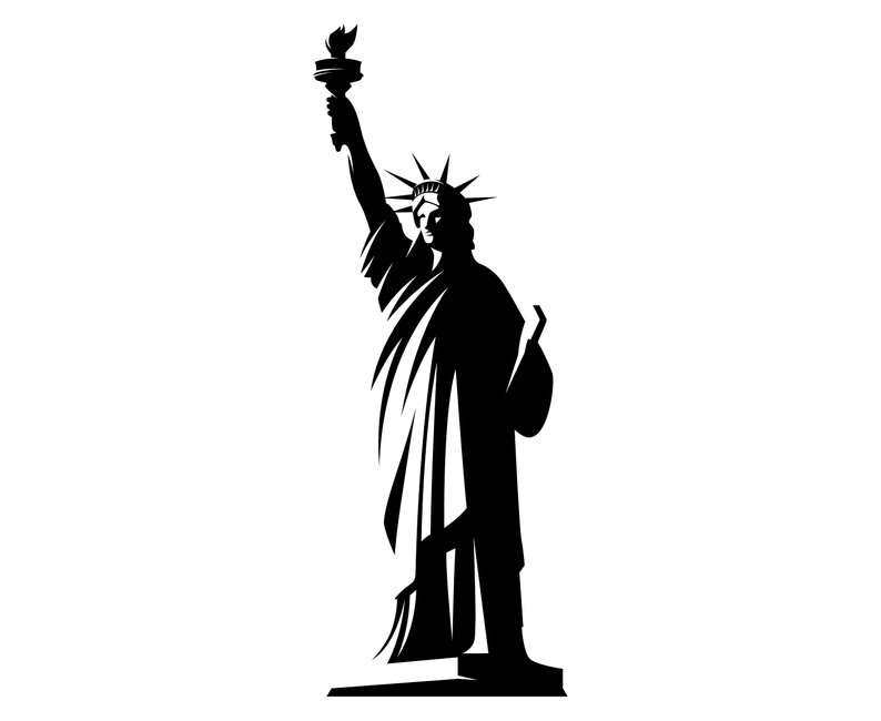 Free statue of liberty clipart black and white clip black and white stock Collection of Statue of liberty clipart | Free download best Statue ... clip black and white stock