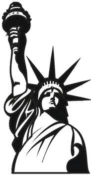 Free statue of liberty clipart black and white freeuse Free Clipart Picture of The Statue of Liberty-Black and White freeuse