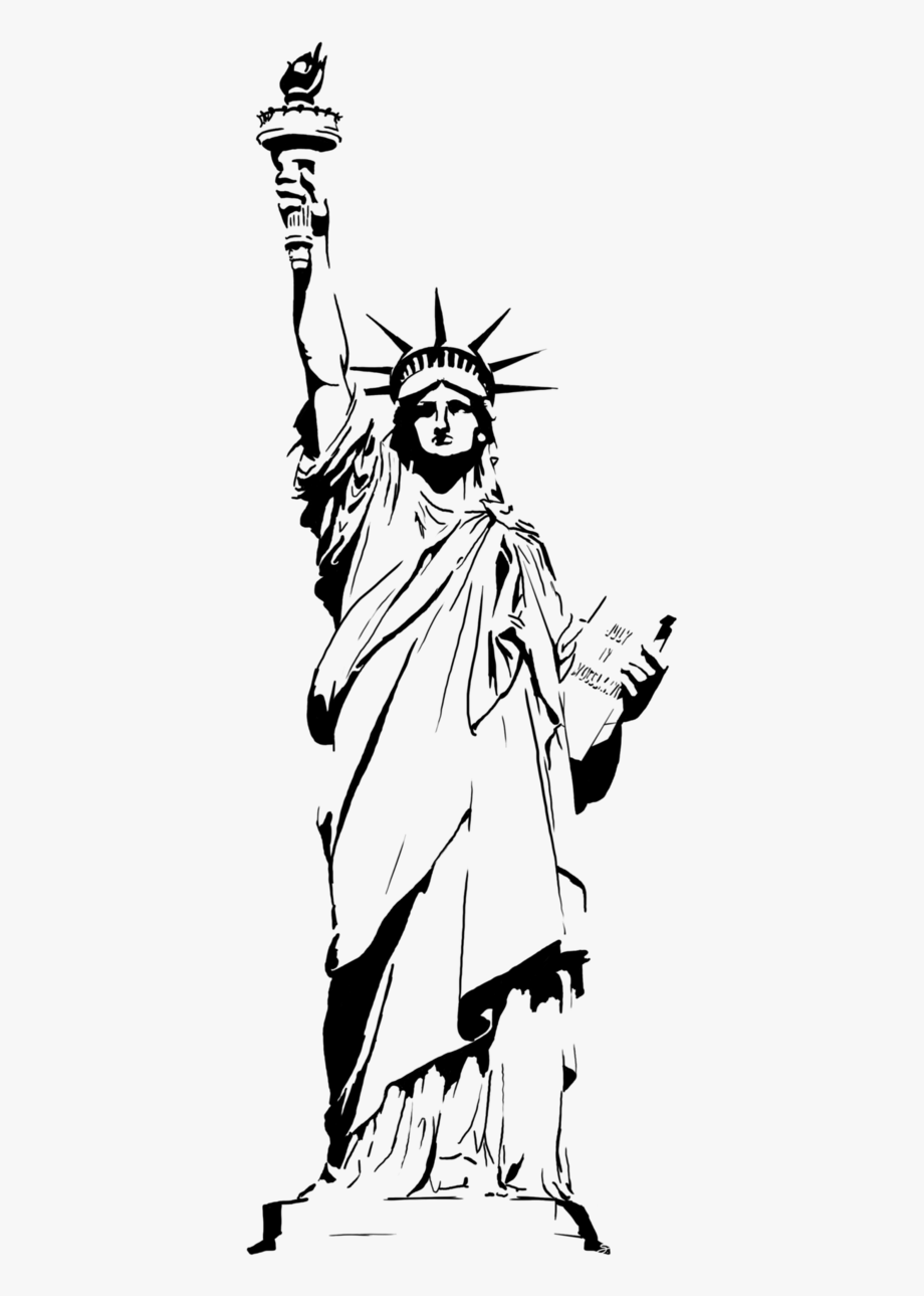 Give me liberty clipart black and white clip library library Statue Of Liberty Vector Png - Cartoon Clip Art Statue Of Liberty ... clip library library