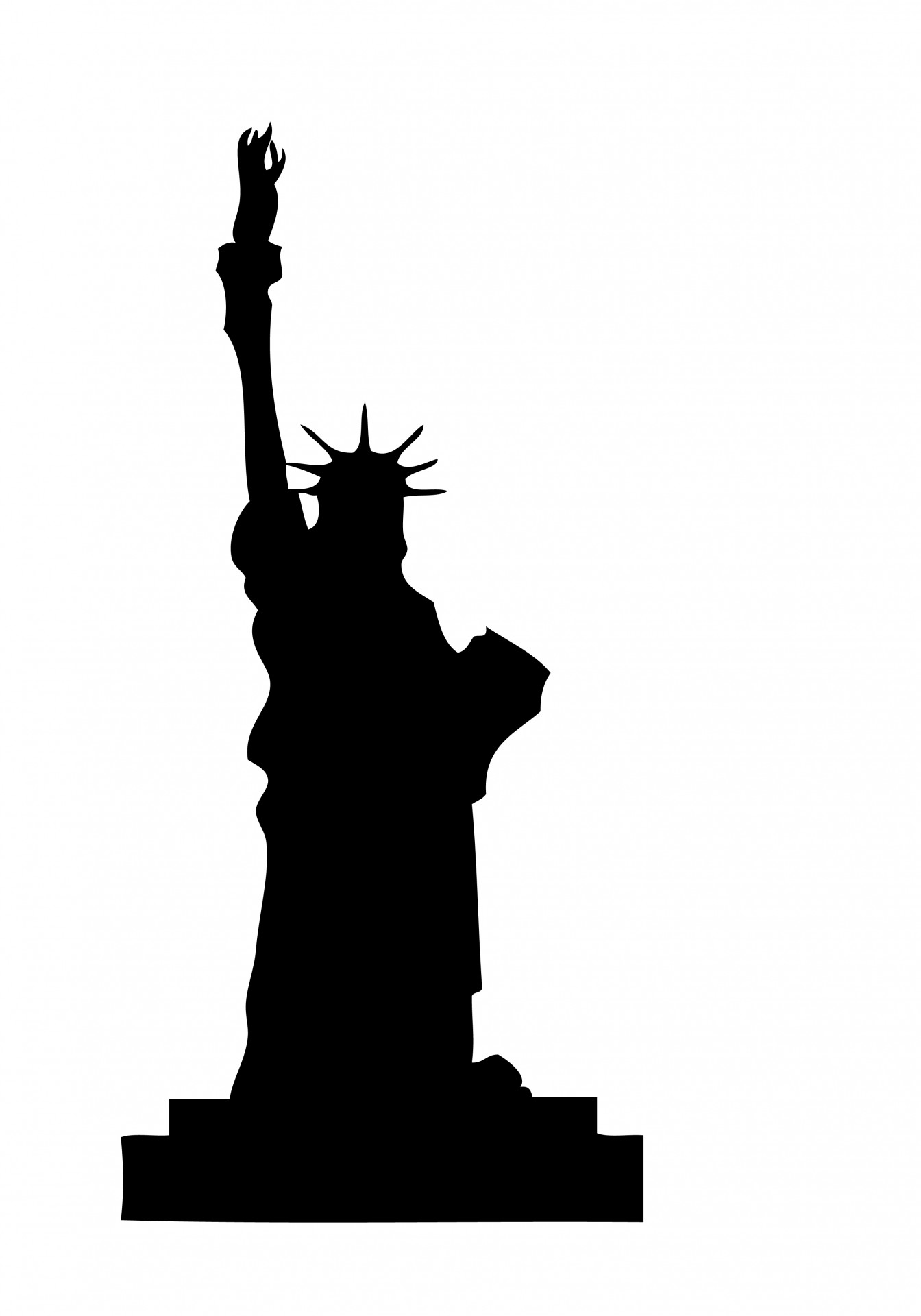 Give me liberty clipart black and white clip art royalty free Statue Of Liberty Clipart Free Stock Photo - Public Domain Pictures clip art royalty free