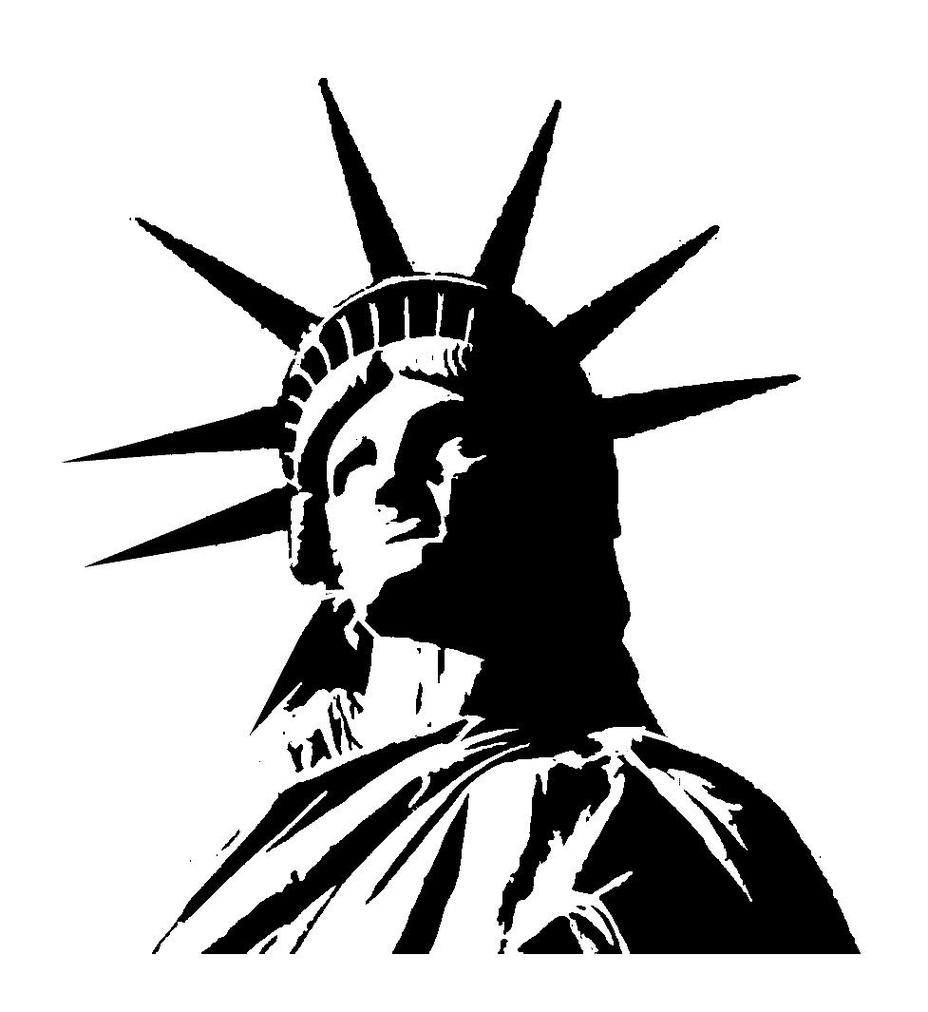 Free statue of liberty clipart black and white freeuse Statue of liberty clip art clipart free to use resource - Cliparting.com freeuse