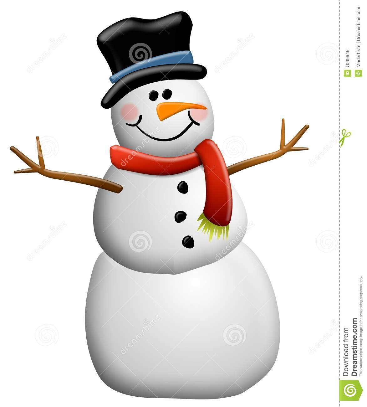 Free stock clipart vector black and white library Snowman Clip Art Isolated Royalty Free Stock Photo - Image: 7049645 vector black and white library