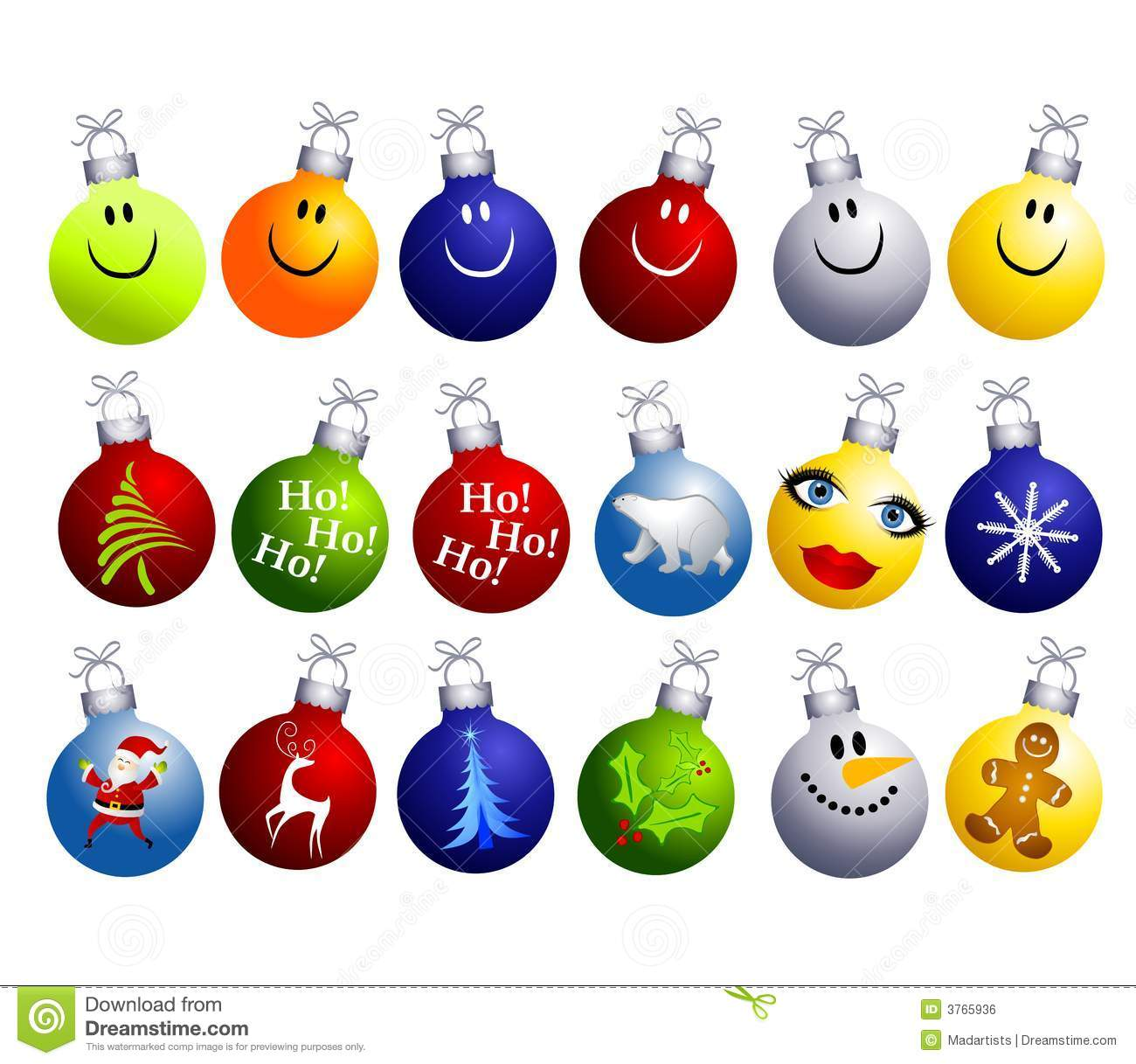 Free stock images clipart clip Assorted Christmas Ornaments Clip Art Royalty Free Stock Image ... clip