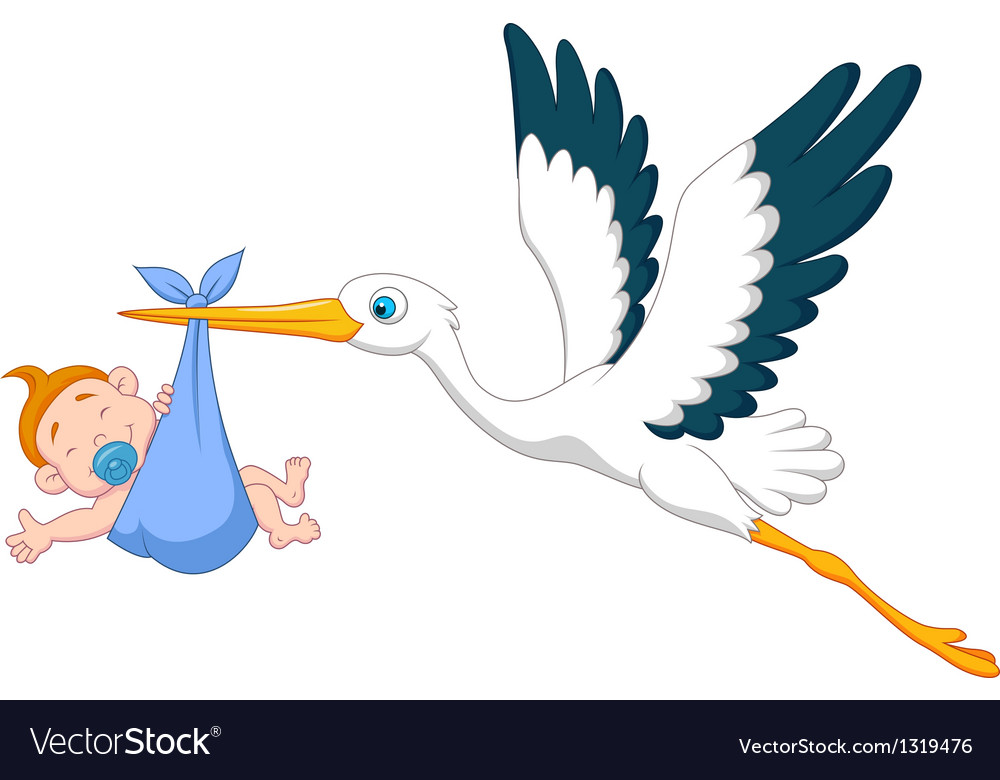 Free stork and baby clipart images to use black and white stock Stork with baby boy cartoon black and white stock
