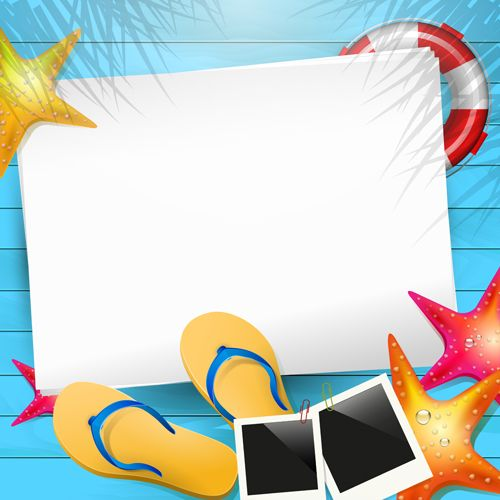 Summer backgrounds clipart clip royalty free library Happy summer holidays elements vector background 02 free | Work ... clip royalty free library