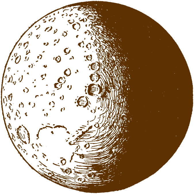 Free sun and moon clipart vector black and white library Moon clip art free clipart images 2 - Clipartix vector black and white library