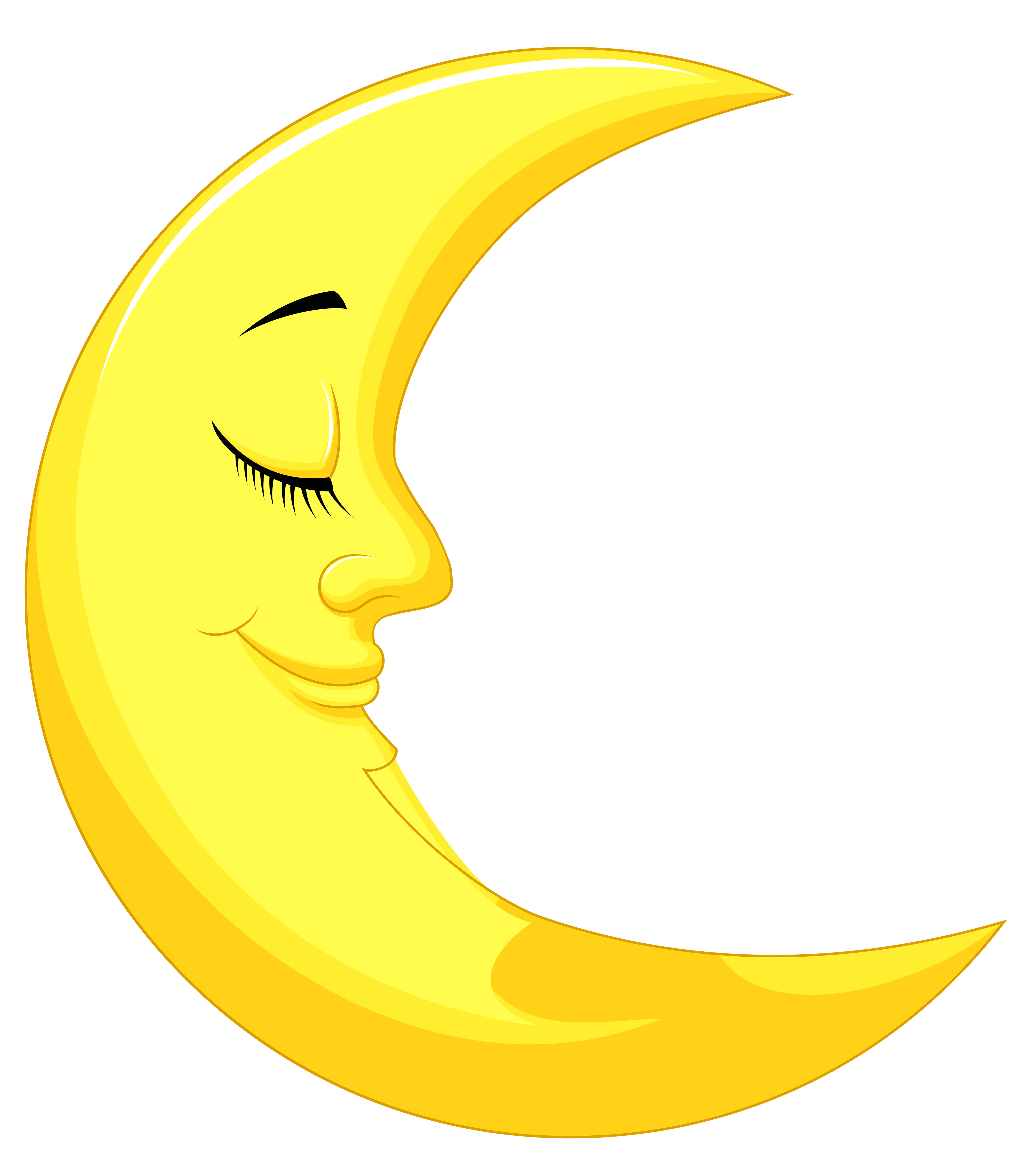 Sun and moon clipart jpg royalty free library Cute Yellow Moon PNG Clipart Picture | Gallery Yopriceville - High ... jpg royalty free library
