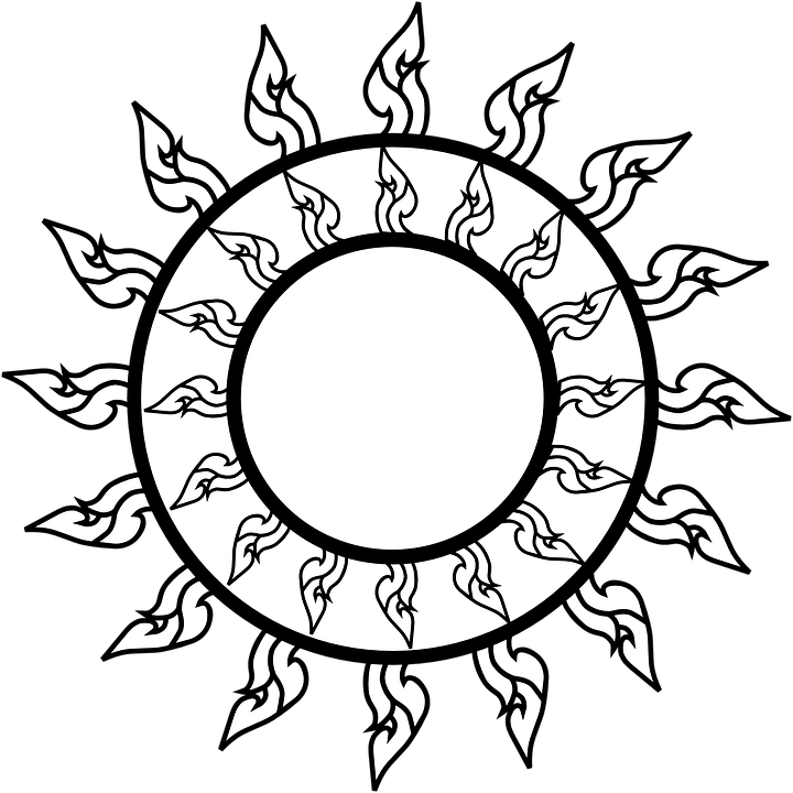 Free sun clipart black and white banner stock Black And White Sun Clipart#4321261 - Shop of Clipart Library banner stock