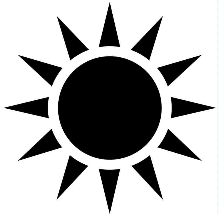 Free sun clipart black and white vector image free Sun Silhouette Clipart Black And White - Free Clipart image free