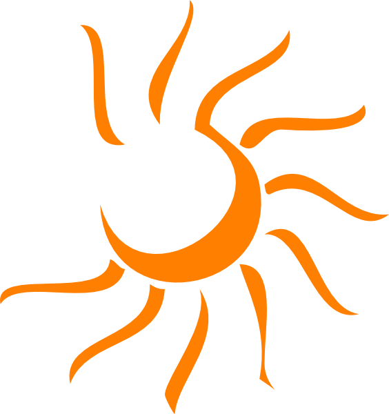 Free sun ray clipart png black and white download Sun Clip Art at Clker.com - vector clip art online, royalty free ... png black and white download