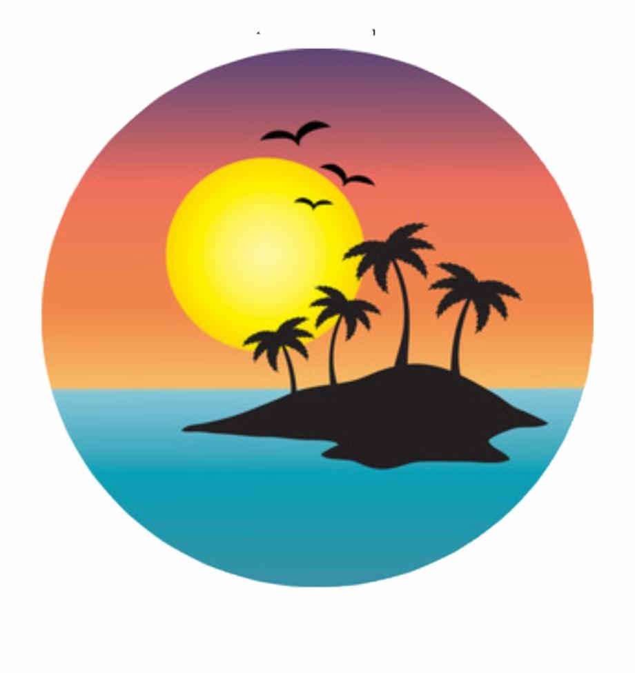 Free sunset clipart images jpg library stock sticker #island #sunset #sunrise #ocean #freetoedit - Sunset Palm ... jpg library stock