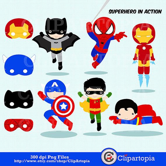 Free superhero printables clipart picture transparent download Printable superhero clipart - ClipartFest picture transparent download