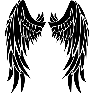 Free svg biker with angel wings clipart clip art free stock Angel wings clipart, cliparts of Angel wings free download (wmf, eps ... clip art free stock
