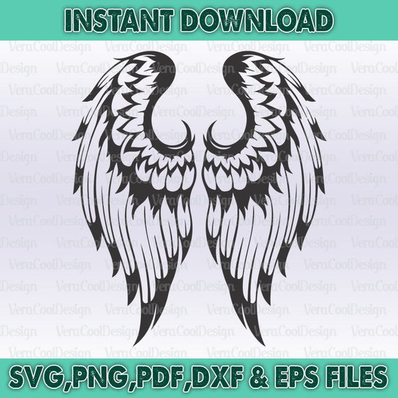 Free svg biker with angel wings clipart jpg black and white stock Angel Wings Svg file/Angel Wings Svg/Angel Wings/Angel Wings Clipart ... jpg black and white stock