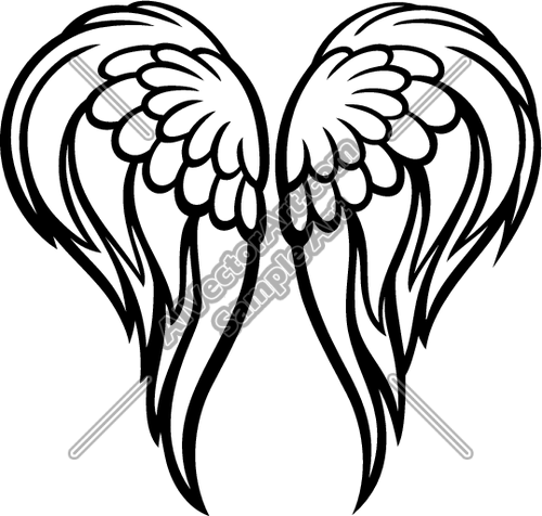 Free svg biker with angel wings clipart clip art black and white library Angel Wings | Clipart Panda - Free Clipart Images | IN MEMORY OF ... clip art black and white library