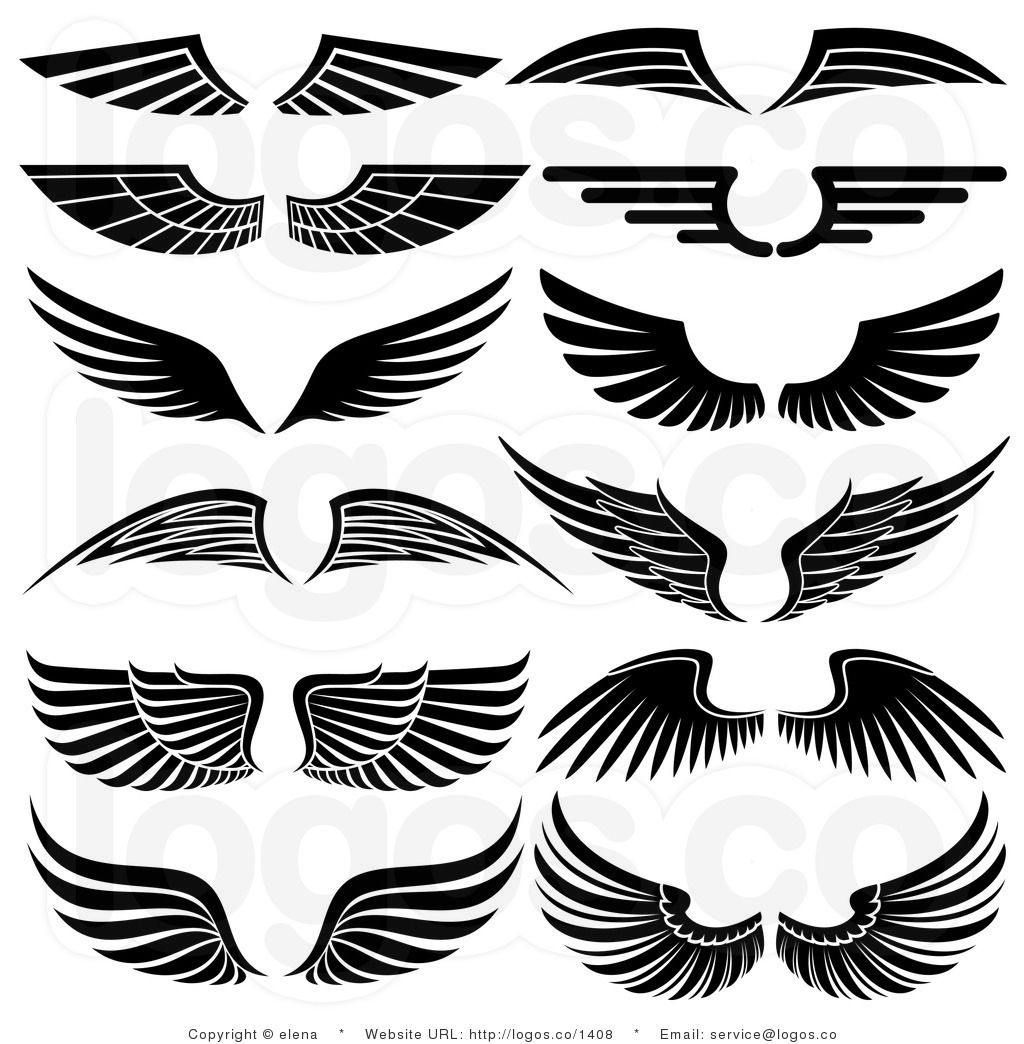 Free svg biker with angel wings clipart vector library Royalty Free Stock Logo Clipart of Angel Wings | arts and crafts ... vector library