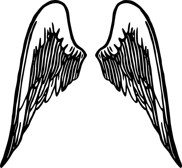 Free svg biker with angel wings clipart banner library stock Angel Wings Tattoo clip art Free vector in Open office drawing svg ... banner library stock