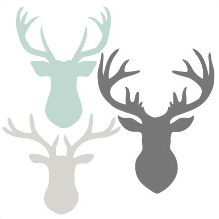 Free svg clipart royalty free Deer Head Set SVG scrapbook cut file cute clipart files for ... royalty free