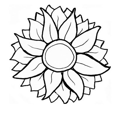 Free svg clipart for cricut flowers black and white vector free stock Free Sunflower SVG | Cricut / SVG / Flowers | Sunflower stencil ... vector free stock