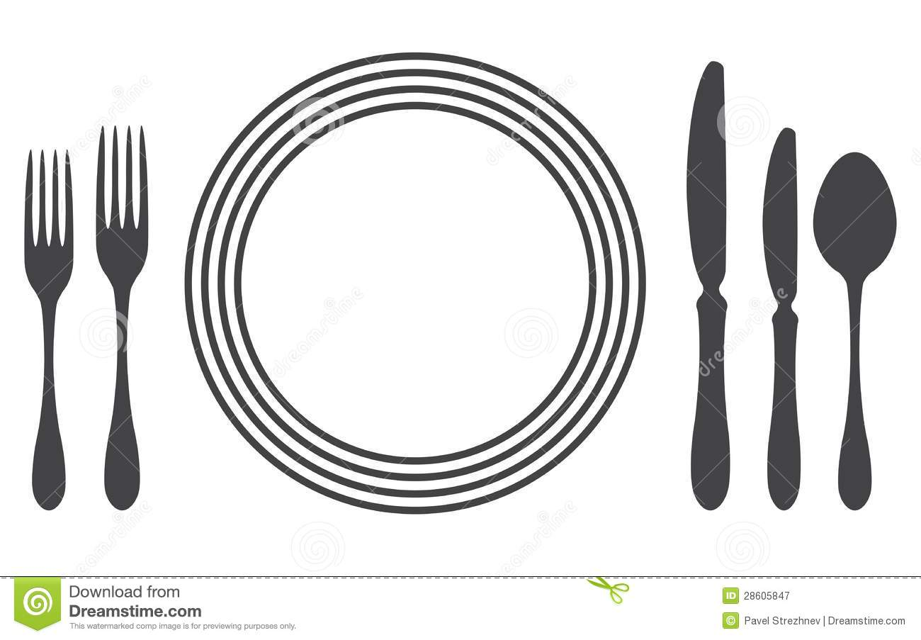 Free table setting clipart vector black and white library Free table setting clipart 6 » Clipart Station vector black and white library