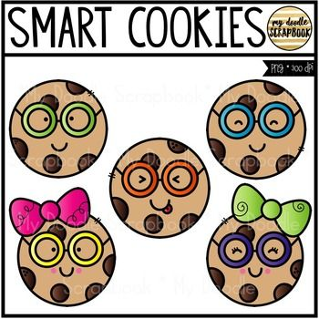 Free teacher clipart for commercial use image black and white library Smart Cookies (Clip Art for Personal & Commercial Use) | Pinterest ... image black and white library