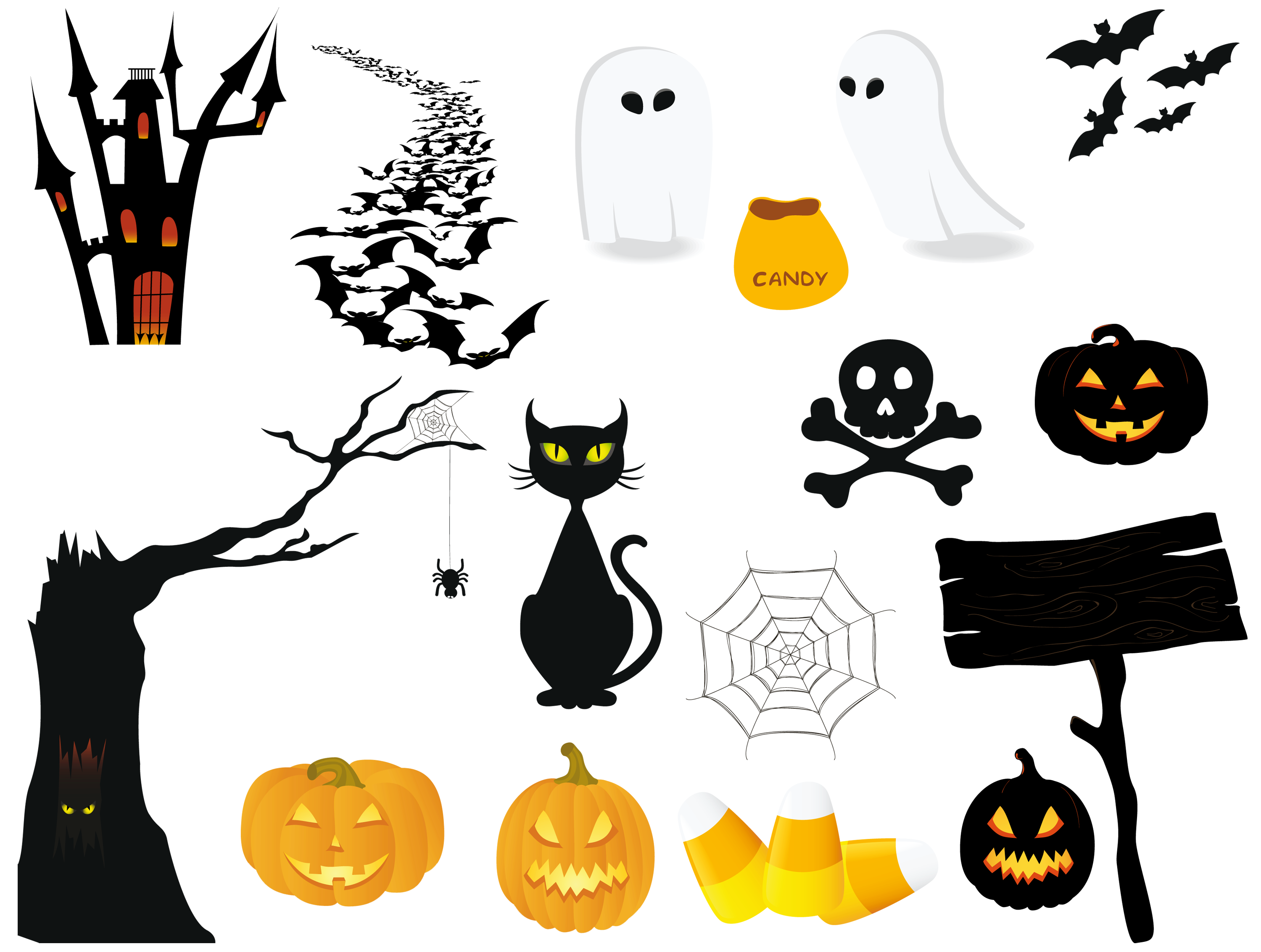 Free teacher clipart of halloween clipart transparent library Halloween PNG Pictures Collection | Gallery Yopriceville - High ... clipart transparent library