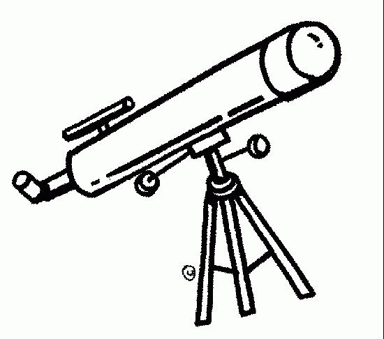 Telescope black and white clipart