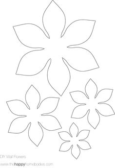 Free template for flowers clip art 16 Best Photos of Make Paper Flowers Templates - How to Make Paper ... clip art