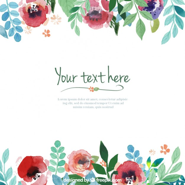 Free template for flowers vector library stock Hand painted flowers template Vector | Free Download vector library stock